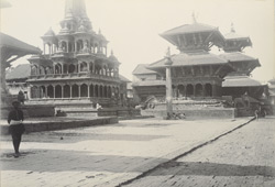 Temples in front of Durbar, Pattan